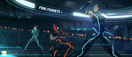 korra,crossover,Fan Art,tron