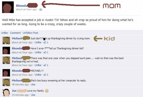 thanksgiving,family feuds,facebook