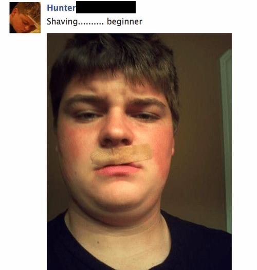 shaving,facebook