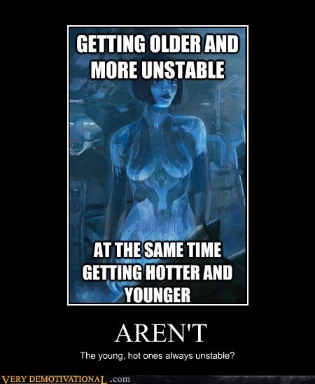 cortana,old,young,sexy,unstable