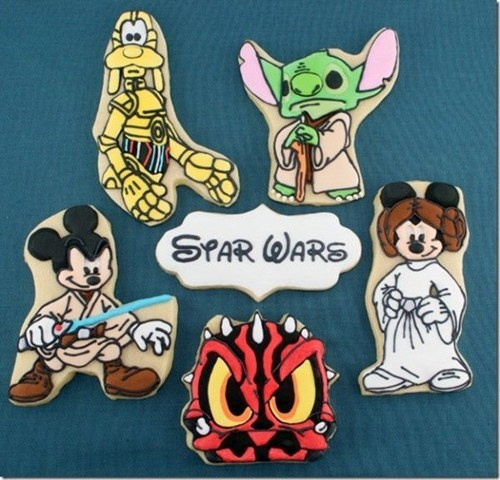 disney,nerdagsm,star wars,mickey mouse,cookies,dessert,food