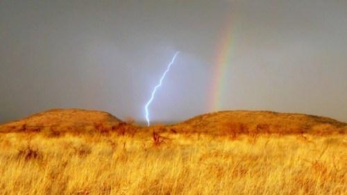 krakoom landscape lightning rainbow - 6767647744