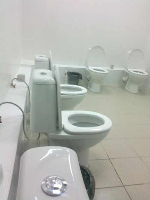 meeting Awkward bathroom toilet
