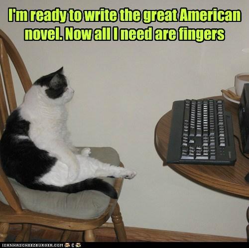 novel fingers writer captions thumbs Cats - 6768006912