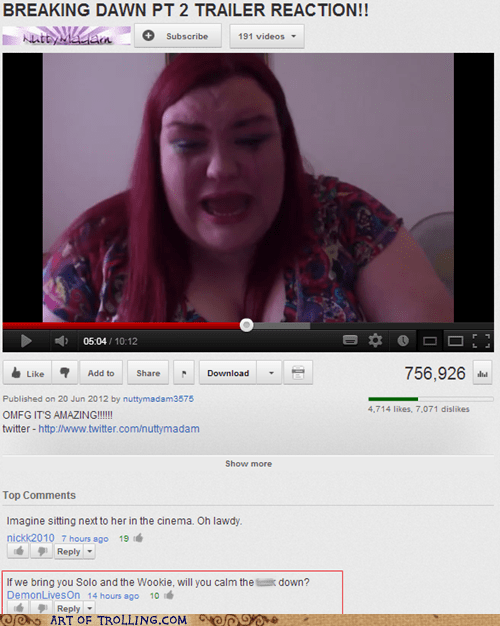star wars,youtube,fat jokes,twilight