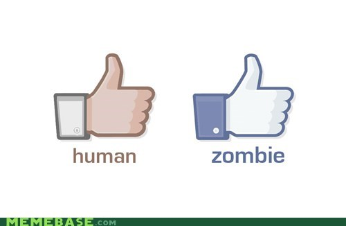 like,facebook,zombie,thumbs up