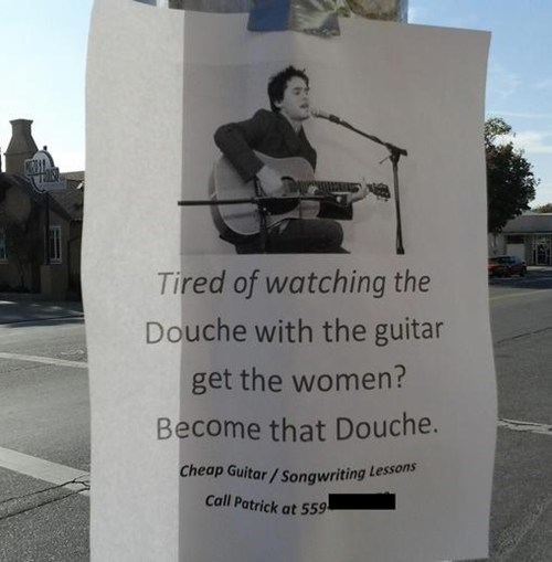 guitar douche Music ladies man - 6769309184