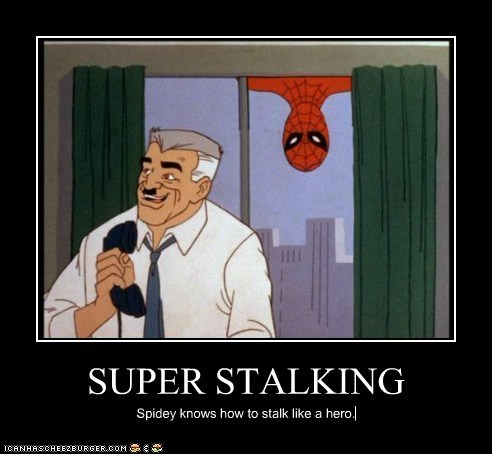 Spider-Man stalking J Jonah Jameson