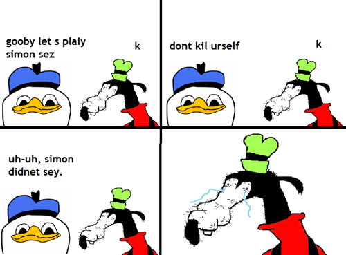 game gooby simon says kill yourself