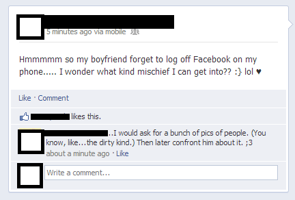 boyfriend,facebook hacking,mischief,profile hacking