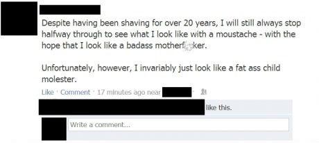 mustache,facebook