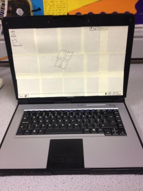 post its IRL laptop