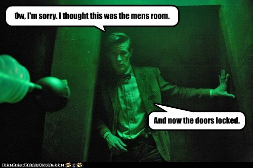 Mens Room,locked,the doctor,daleks,Matt Smith,doctor who,mistake