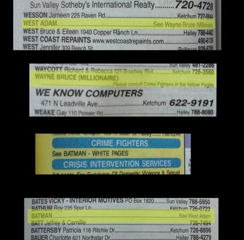 phone number phone book nerdgasm batman Hall of Fame best of week - 6769904896