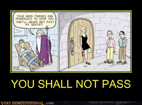 nerds,you shall not pass,lady