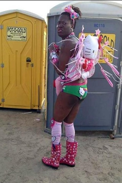 wtf,hello kitty,cross dressing,raver