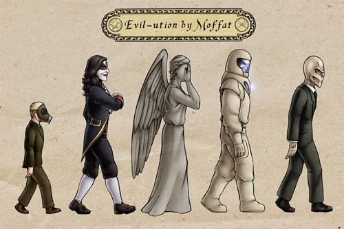 scary,silence,evolution,monster,are you my mummy,weeping angels,evil,doctor who,Steven Moffat