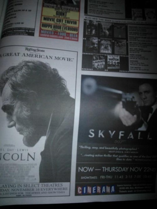 lincoln,advertisement,movies,james bond,skyfall,juxtaposition