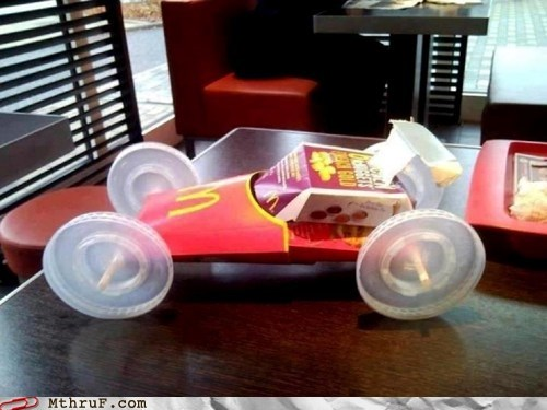 fries box,racer,race car,fry box,McDonald's,large fries