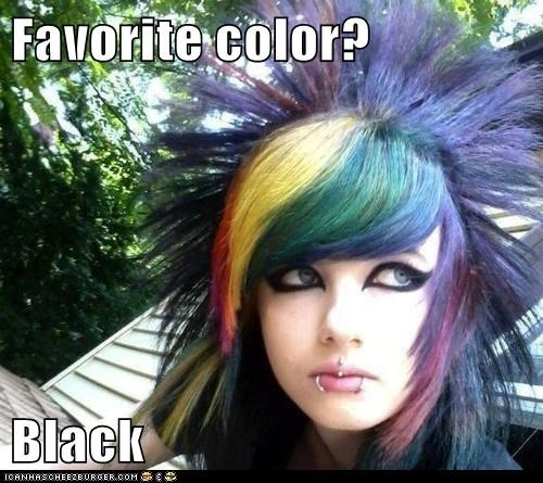 Favorite color?  Black