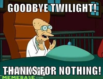 goodbye,thanks for all the fish,twilight,futurama,professor farnsworth