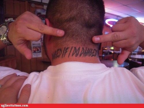 misspelled tattoos,neck tattoos,g rated,Ugliest Tattoos