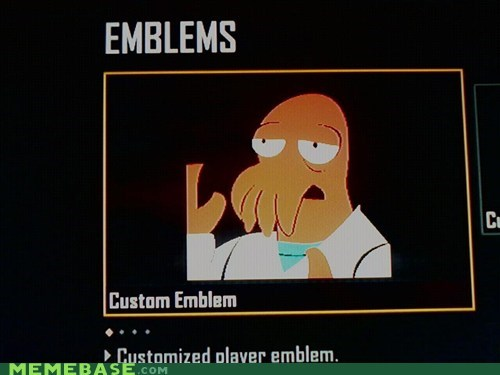 emblems,customization,video games,Zoidberg