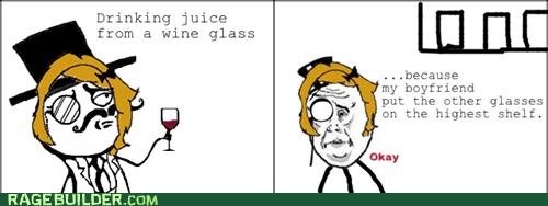 like a lady sir Okay wine glasses - 6771755776