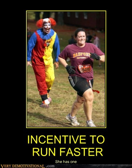 INCENTIVE TO RUN FASTER She has one