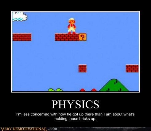 physics super mario video games