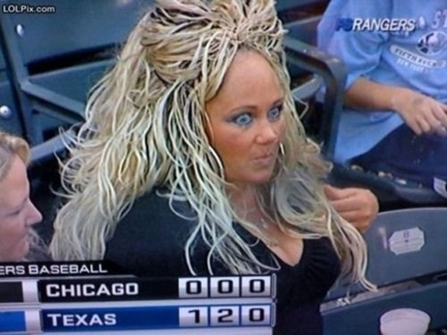 hair surprised baseball game - 6772237568