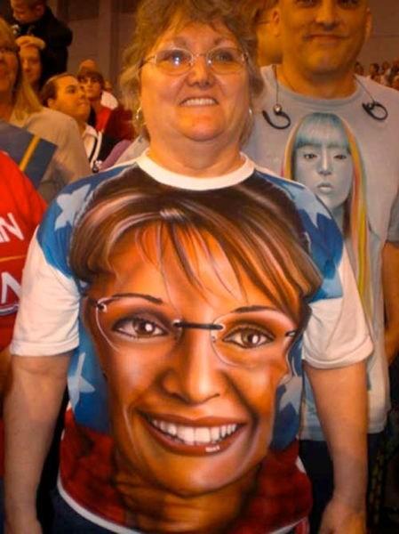 T.Shirt airbrush Sarah Palin - 6772248064