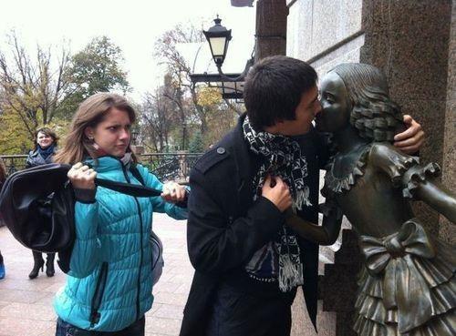 jealous Awkward statue - 6772403456