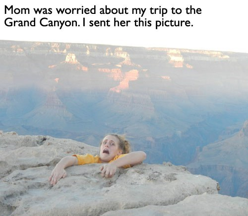 scaring mom,grand canyon