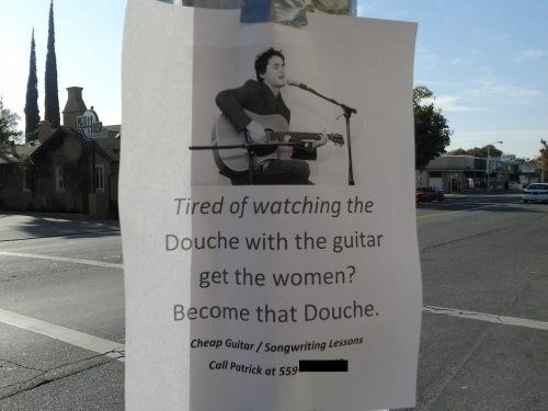 guitar,douche,guitar lessons
