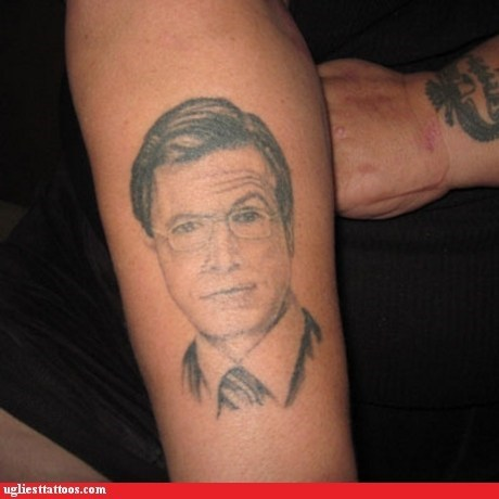 arm tattoos,stephen colbert,g rated,Ugliest Tattoos