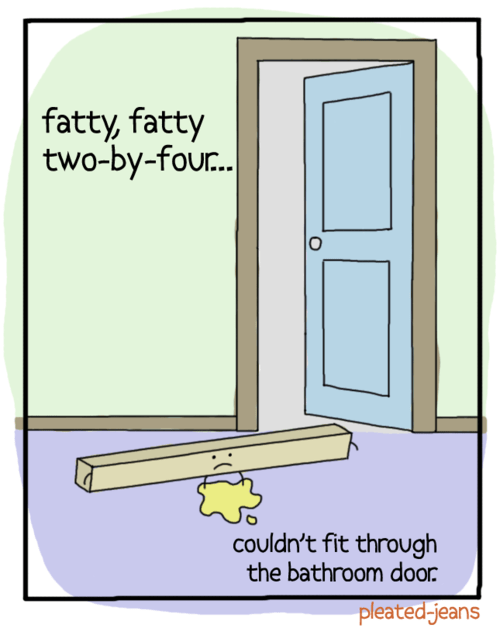 teasing rhyme fatty literalism fatty fatty two-by-four two-by-four double meaning - 6772593408
