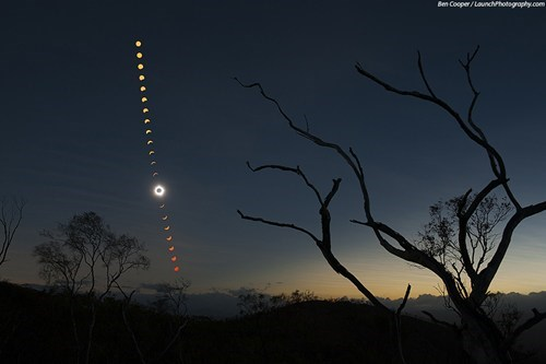 A Rare Total Solar Eclipse Takes Over the Night Skies in Australia