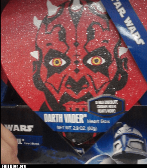 darth maul heart star wars merchandising nerdgasm Valentines day - 6772748032