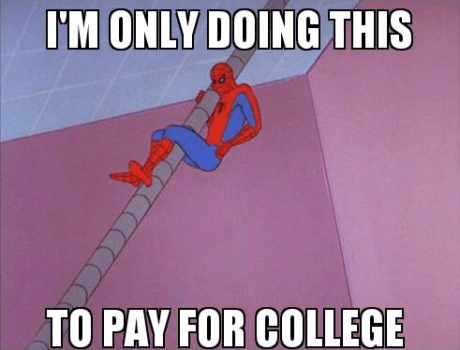 Spider-Man student loans paying for dollar