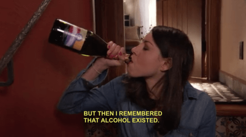 parks and recreation alcohol april ludgate - 6772893952