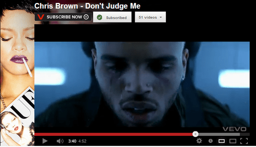 vevo,youtube,dont-judge-me,chris brown,rihanna