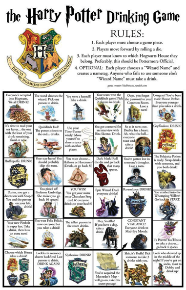 Harry Potter board games wizards drinking games - 6772899328