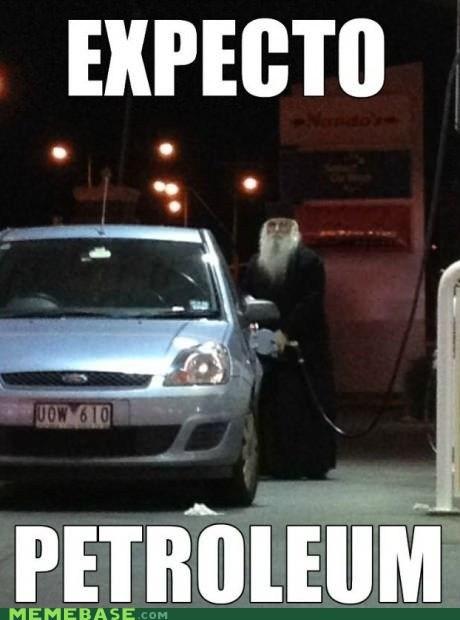Harry Potter gas dumbledore petroleum expecto patronum wizards - 6772907520