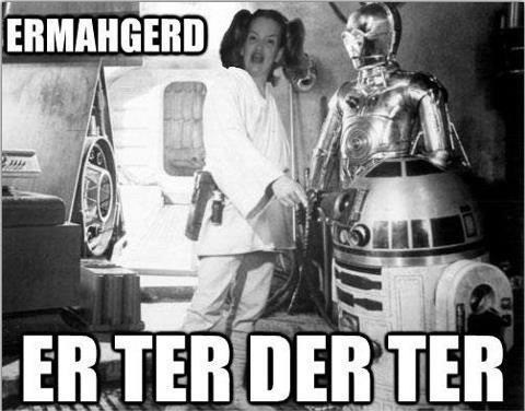 r2d2 star wars Ermahgerd Movie droids luke skywalker