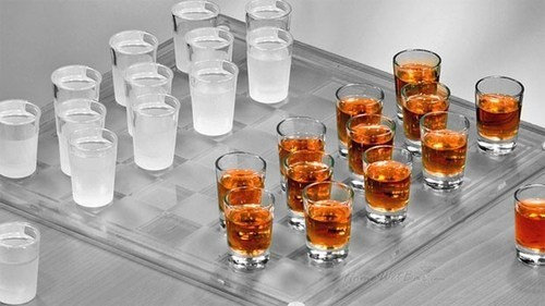 sloshed swag,shot checkers,drinking games