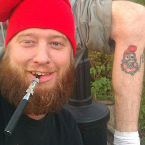 look alikes,gnome,leg tattoos