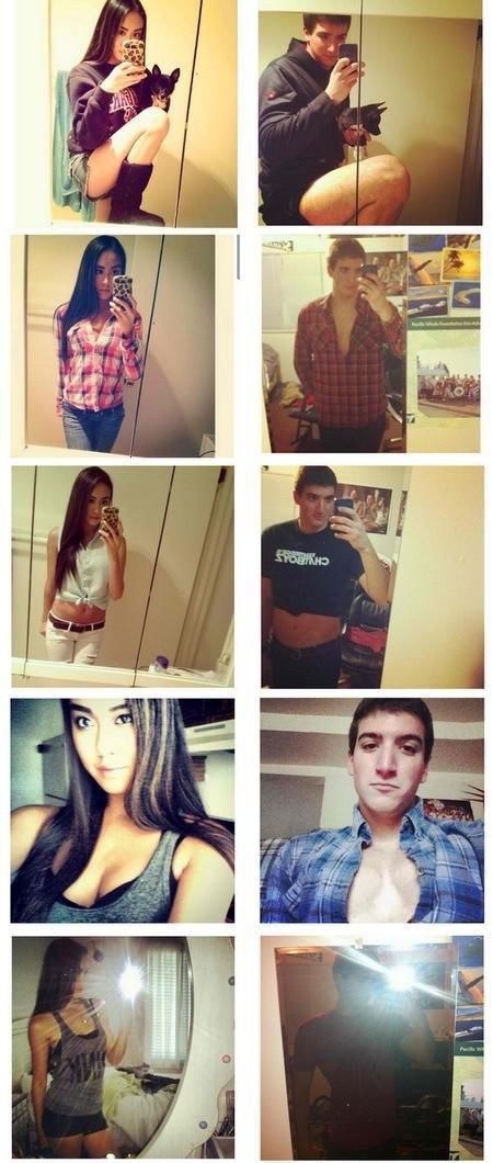 boys vs girls,self shots