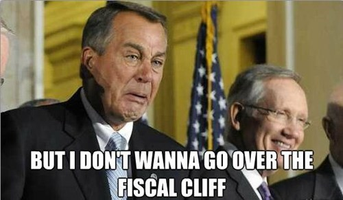 fiscal cliff john boehner Harry Reid i-dont-wanna whining crying - 6773425408