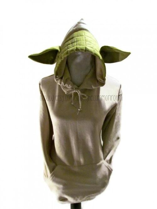 costume star wars ears hoodie yoda - 6773509376